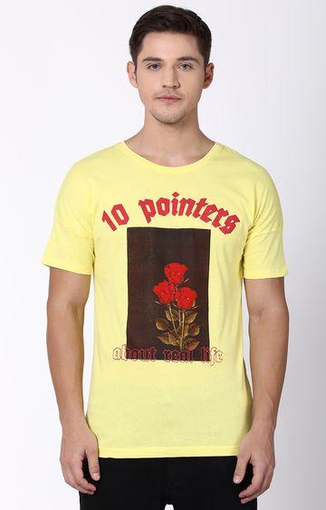 Blue Saint | Yellow Printed T-Shirt