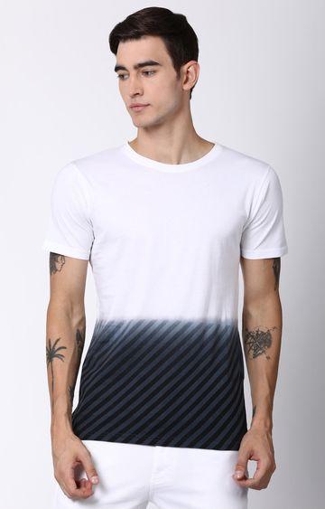 Blue Saint   White Solid T-Shirt
