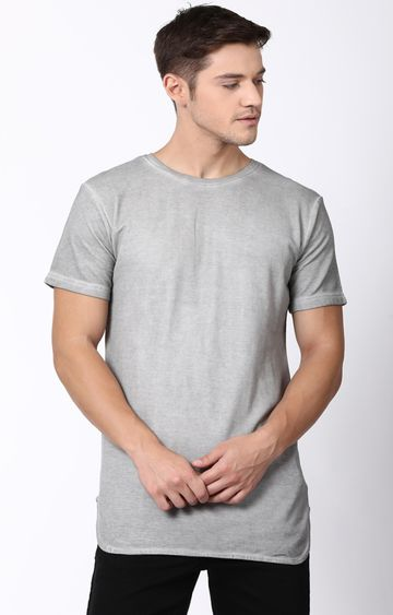 Blue Saint | Grey Solid T-Shirt