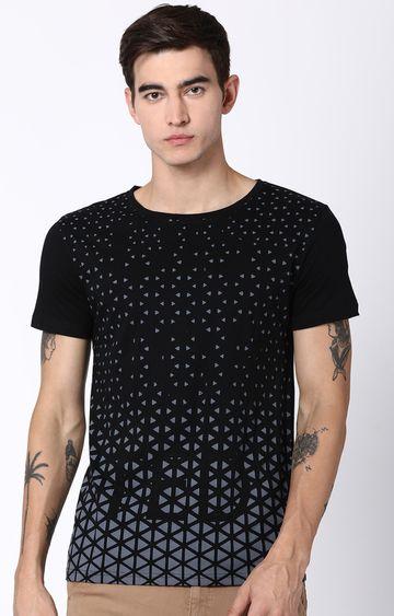 Blue Saint   Black Printed T-Shirt