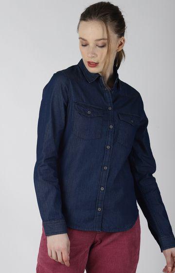 Blue Saint   Navy Solid Casual Shirt