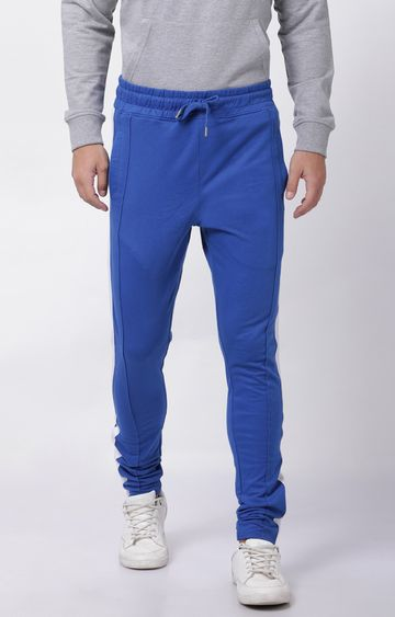 Blue Saint | Blue Solid Trackpants