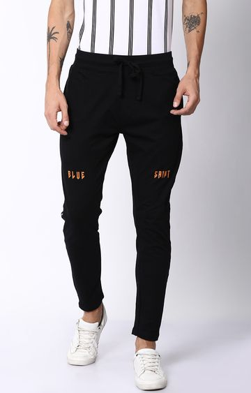 Blue Saint | Black Solid Trackpants