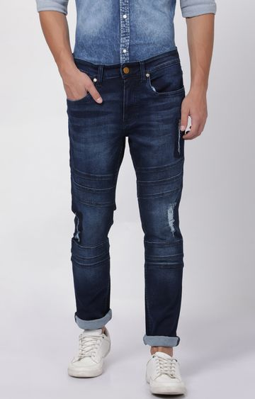 Blue Saint | Blue Ripped Straight Jeans