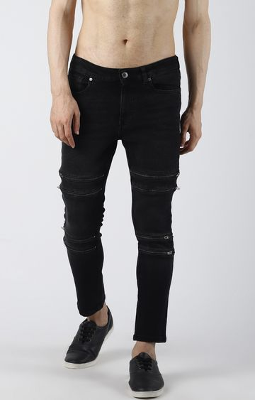 Blue Saint   Black Ripped Tapered Jeans