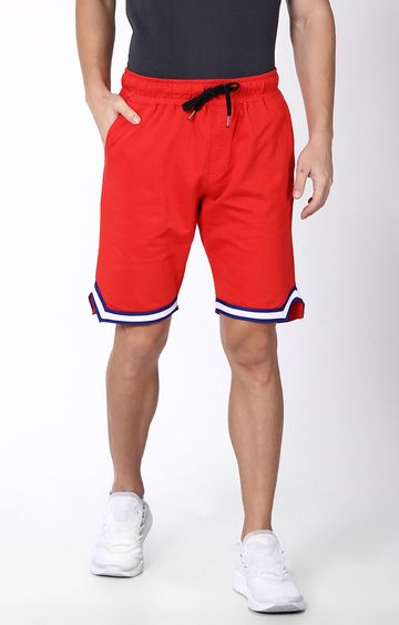 Blue Saint | Red Solid Shorts