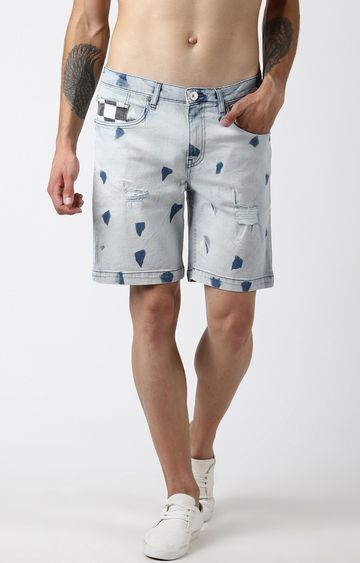 Blue Saint | Blue Printed Shorts