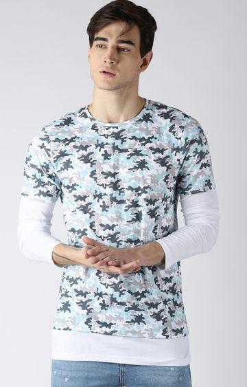 Blue Saint | Multicoloured Camouflage T-Shirt