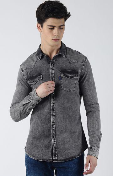 Blue Saint   Grey Solid Casual Shirt