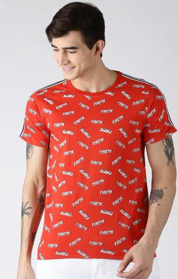 Blue Saint   Red Printed T-Shirt