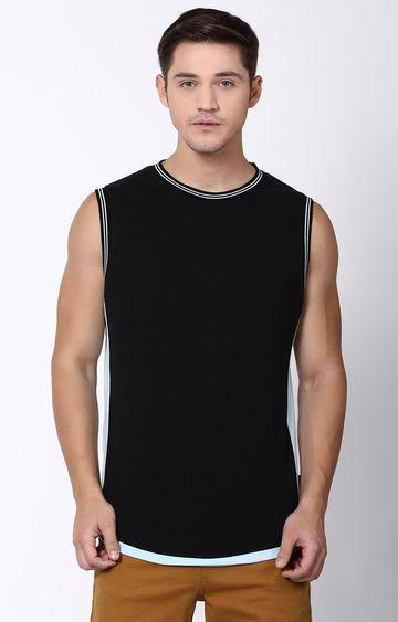 Blue Saint   Black Solid T-Shirt