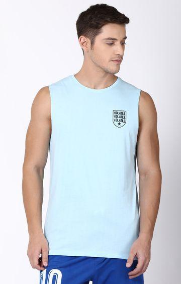 Blue Saint   Blue Solid T-Shirt