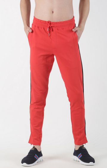 Blue Saint | Red Solid Trackpants