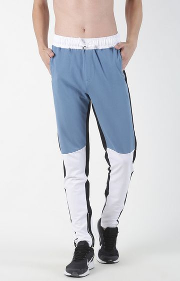 Blue Saint | Light Blue Colourblock Trackpants