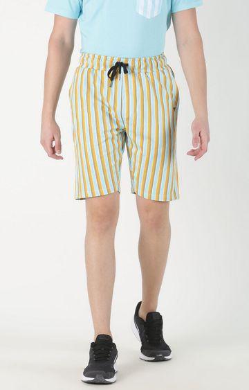 Blue Saint | Yellow Striped Shorts