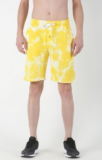 Blue Saint | Yellow Printed Shorts