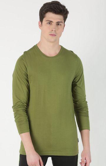 Blue Saint | Olive Solid T-Shirt