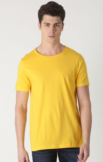 Blue Saint | Yellow Solid T-Shirt