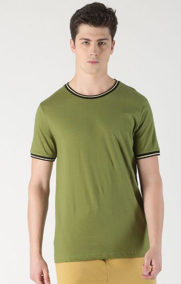 Blue Saint | Green Solid T-Shirt
