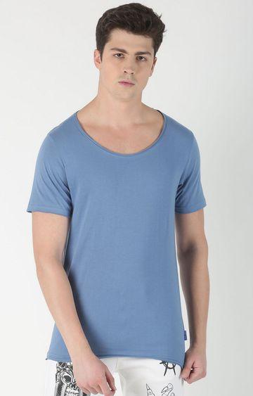 Blue Saint | Blue Solid T-Shirt