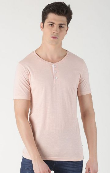 Blue Saint | Pink Solid T-Shirt