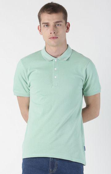 Blue Saint | Green Solid Polo T-Shirt