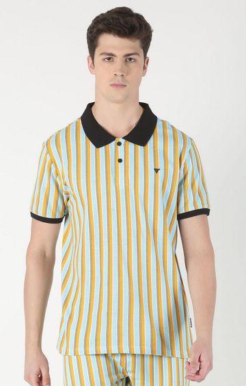 Blue Saint   Multicoloured Striped Polo T-Shirt