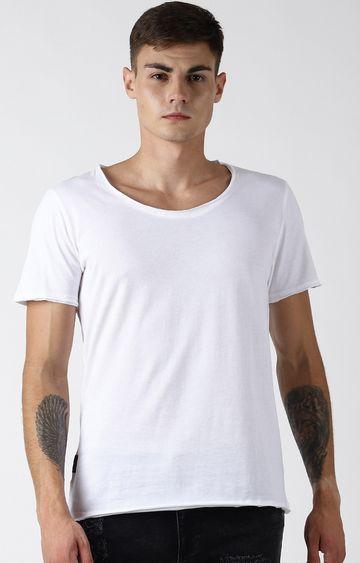 Blue Saint | White Solid T-Shirt