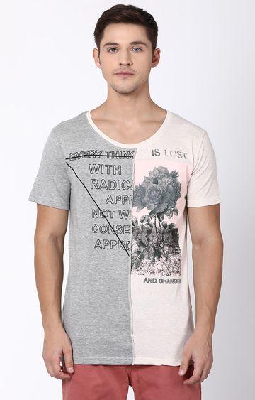 Blue Saint   Grey Printed T-Shirt