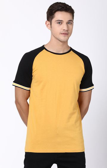 Blue Saint | Mustard Colourblock T-Shirt