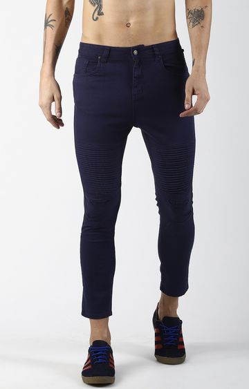 Blue Saint | Navy Solid Cropped Jeans