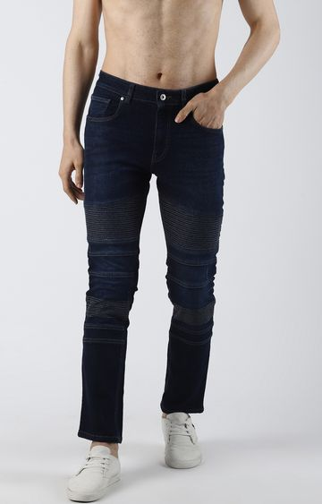 Blue Saint | Blue Ripped Tapered Jeans