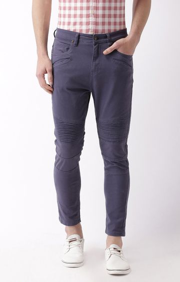 Blue Saint | Navy Blue Tapered Chinos