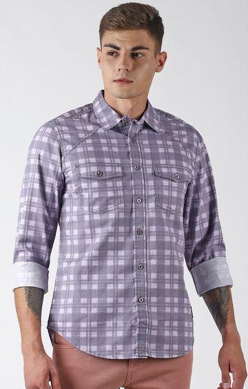 Blue Saint | Purple Checked Casual Shirt
