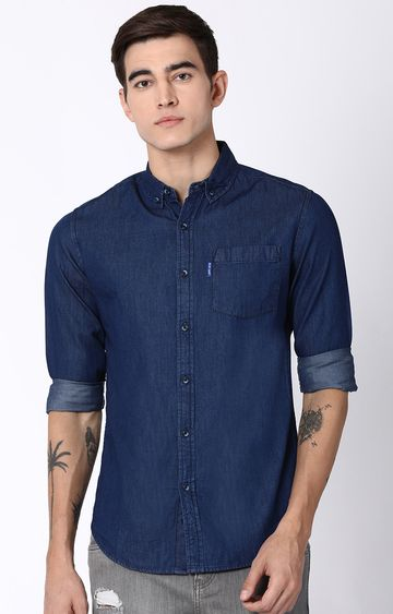 Blue Saint | Navy Solid Casual Shirt