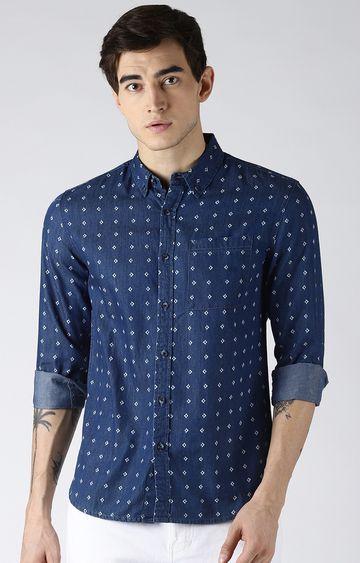 Blue Saint | Blue Printed Casual Shirt