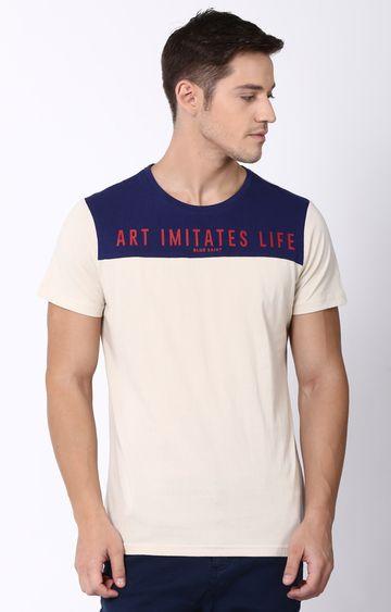 Blue Saint | White Printed T-Shirt