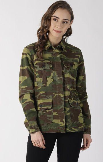Blue Saint | Military Camouflage Denim Jacket