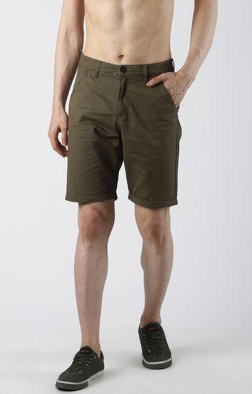 Blue Saint | Olive Solid Shorts