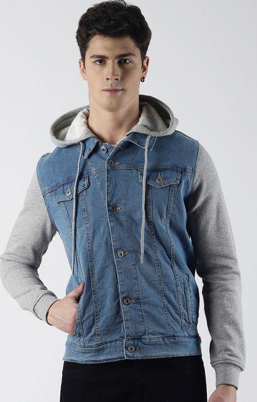 Blue Saint | Blue Solid Denim Jacket