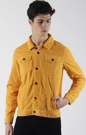 Blue Saint | Yellow Solid Denim Jacket