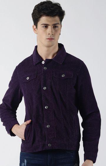 Blue Saint | Purple Solid Denim Jacket