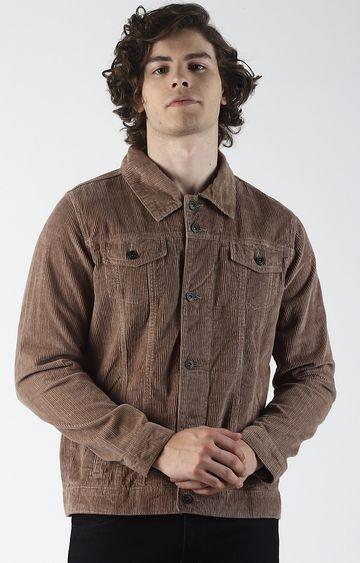 Blue Saint | Brown Solid Denim Jacket