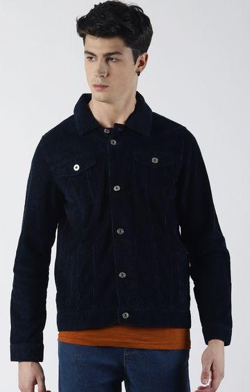 Blue Saint | Navy Solid Denim Jacket