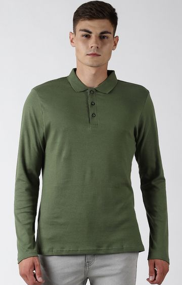 Blue Saint | Olive Solid Polo T-Shirt