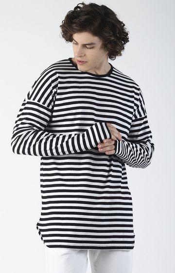 Blue Saint | Black and White Striped T-Shirt