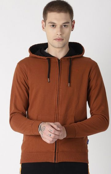 Blue Saint | Brown Solid Hoodie