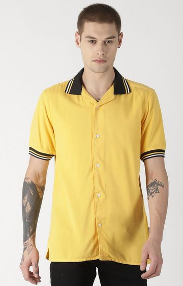 Blue Saint | Yellow Solid Polo T-Shirt
