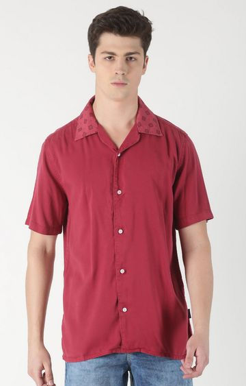 Blue Saint | Red Solid Casual Shirt