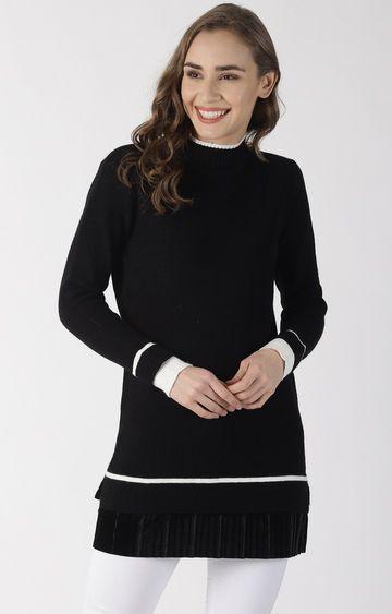 Blue Saint   Black Solid Sweater